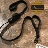 Horween Latigo double handle dog leash.