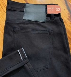 Unbranded UB155 skinny 12.5 oz. black selvedge chino