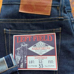 Left Field NYC Chelsea Slim Tapered Cone Mills 13 oz. Selvedge Jeans