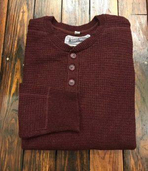 Button Henley Sweater Schott NYC