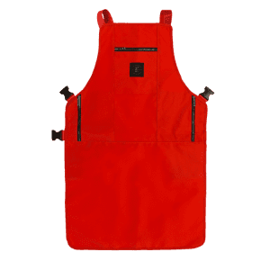Knife and Flag Red Non- Porous Core Apron
