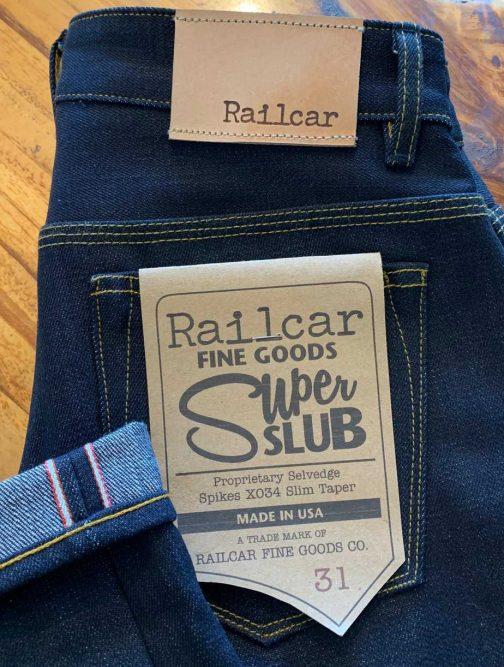 Railcar Fine Goods X034 Spikes 16.5 oz. Slim Tapered Jeans
