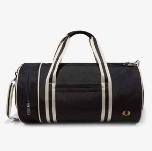 Fred Perry L5400 Black and White Barrel Bag