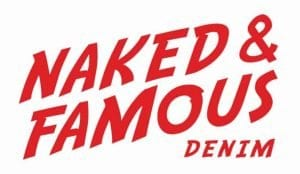 Naked and Famous Denim Red Logo
