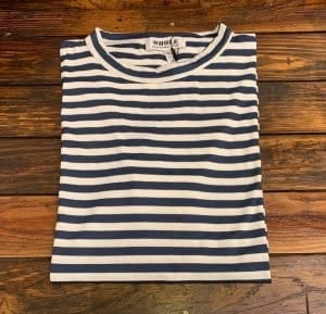 WHOLE Navy Striped Short Sleeve T-shirt