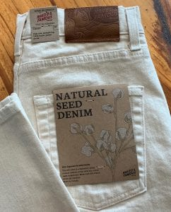 Naked and Famous Denim Women's Classic Natural Seed Denim