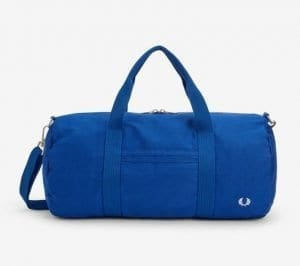 Fred Perry L5277 Archive Embroidery Duffle Bag.