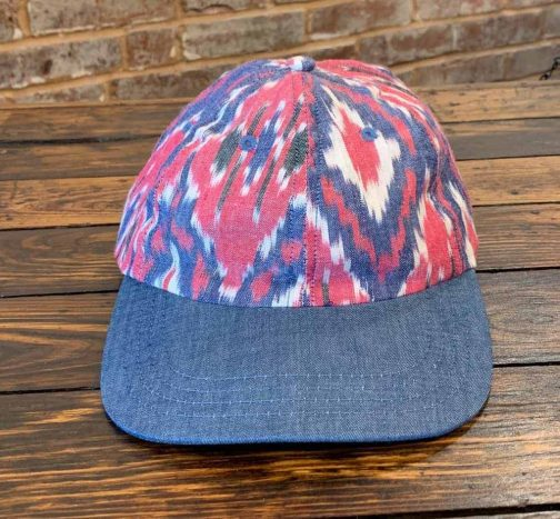 American Trench Ikat Ball Cap. Front View.