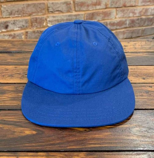 American Trench Ventile Ball Cap In Royal. Front View.