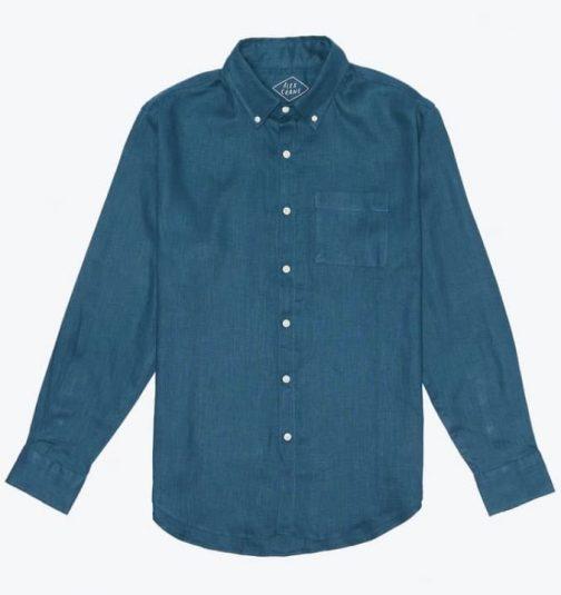 Alex Crane Playa Linen Shirt in Dusk