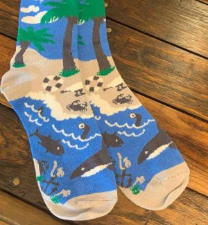 The Ampal Creative Island Cotton Blend Socks