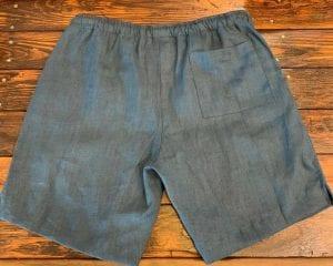 Alex Crane Bo Linen Drawstring Shorts Dusk