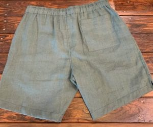 Alex Crane Bo Linen Drawstring Shorts Pine