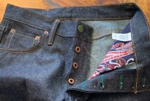 Left Field NYC Atlas 12 oz Collect Mills Banana Selvedge Jeans