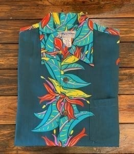 An Original Kalakaua Heleconia Aloha Shirt.