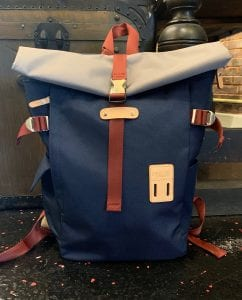 Harvest Label Rolltop Backpack 2.0 in Navy. Front View.