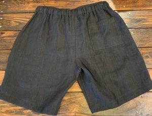 Alex Crane Bo Linen Drawstring Shorts Black