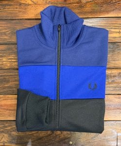 Fred Perry J7503 Color Block Track Jacket. Folded view.