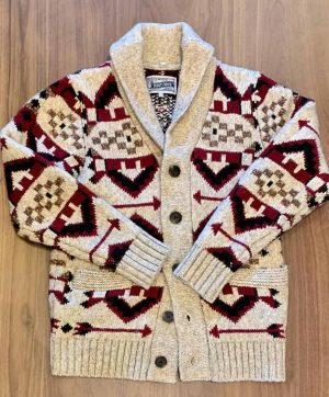 Schott NYC Navajo Heavyweight Shawl Cardigan