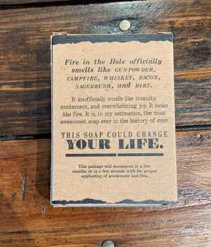 Fire In The Hole Bar Soap Outlaw Soaps