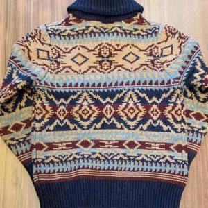 Schott NYC Navajo Shawl Collar Sweater