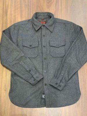 Schott NYC 7810 Wool Grey CPO Shirt