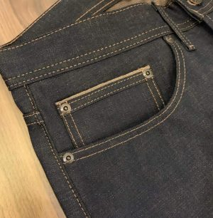 Naked & Famous Denim Chestnut Dyed Selvedge Weird Guy