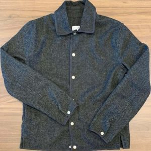 American Trench Wool Herringbone Snap Jacket