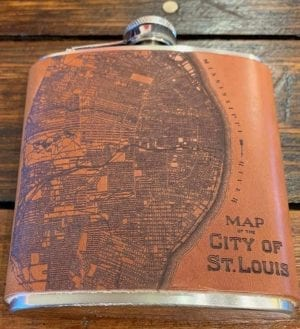 1876 St. Louis Map Flask