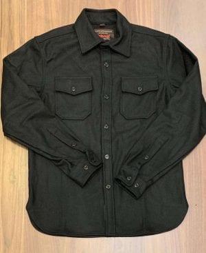 Schott NYC Black CPO Wool Shirt