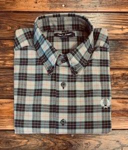 Fred Perry Charcoal Tartan Shirt M7557