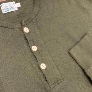 Burgus Plus HBP-010 Olive Long Sleeve Henley