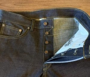 Railcar Fine Goods X056 Spikes 14 oz. Slim Tapered Jeans