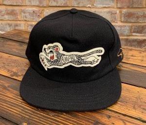 The Ampal Creative Cheetah Wool Strapback Hat