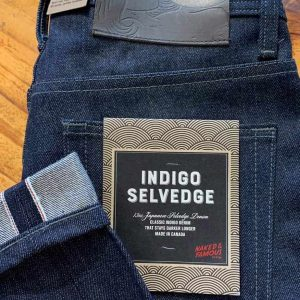 Naked & Famous Denim Weird Guy Tapered Leg Indigo Selvedge Jeans