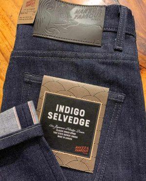 Naked & Famous Denim Super Guy Skinny Fit Indigo Selvedge Jeans