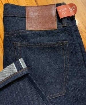 Unbranded UB101 skinny fit 14.5 oz. indigo selvedge jeans