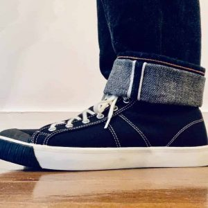Colchester Rubber Co. National Treasure Coal Black High Top Sneakers