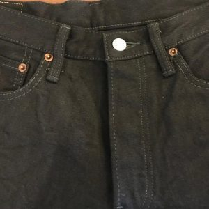 770-99 BURGUS PLUS STANDARD SELVEDGE BLACK JEANS