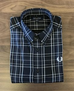 Fred Perry Tonal Check Shirt M7595. Folded view.