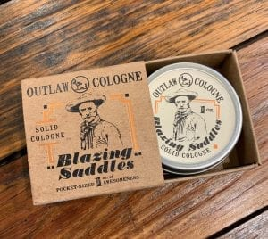 Blazing Saddles Solid Cologne Outlaw Soap Co.