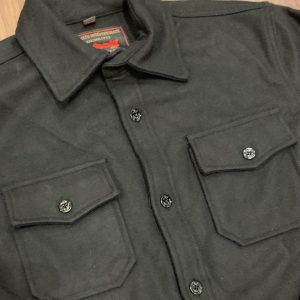Schott NYC Black CPO Wool Shirt