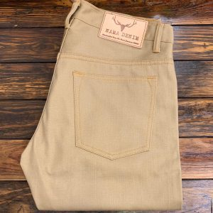 Nama Denim Khaki Slub Selvedge Slim Tapered