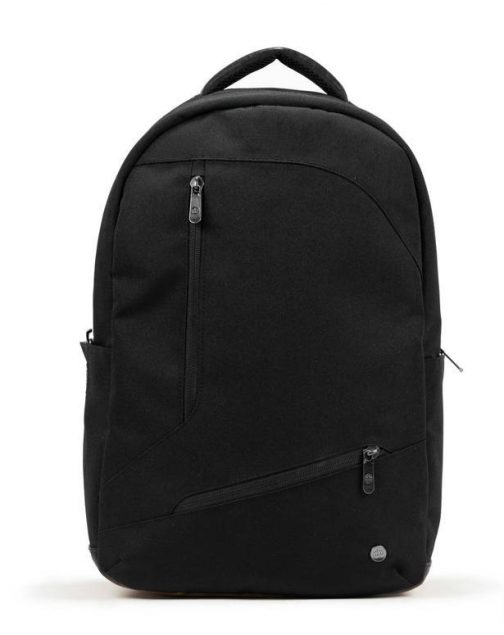Durham Backpack Black PKG Carry Goods. Front view.