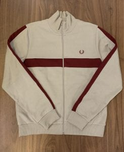 Constrast panel track jacket J7540 by Fred Perry.