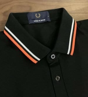 Fred Perry M102 Made in Japan Shirt Black Neon Orange