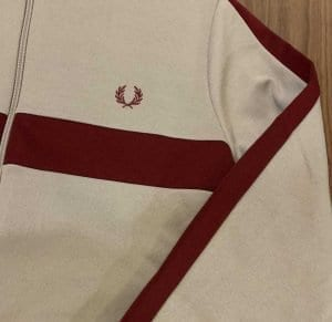 Fred Perry J7540 Contrast Panel Track Jacket Marl Grey