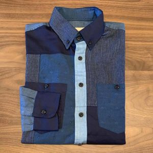 Nama Denim Indigo Patchwork Shirt