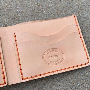 Five Pocket Bifold Wallet Natural Vachetta
