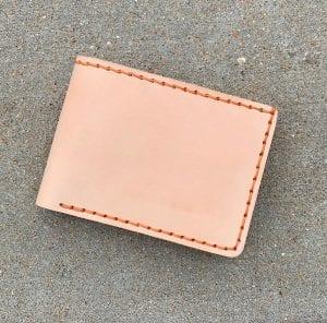 Five Pocket Bifold Wallet Natural Vachetta.